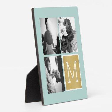 Create Your Own Wedding Photo Collage Monogram Plaque