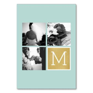 Create Your Own Wedding Photo Collage Monogram Table Number