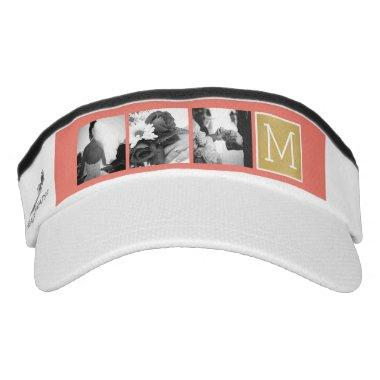 Create Your Own Wedding Photo Collage Monogram Visor