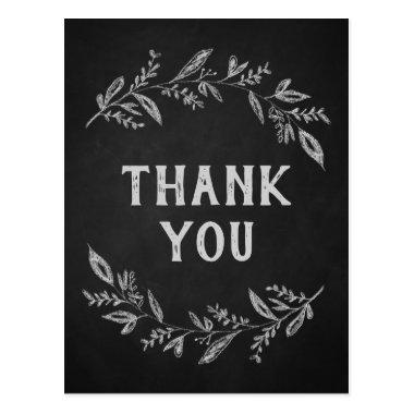 Curved Branches | Chalkboard Thank You PostInvitations