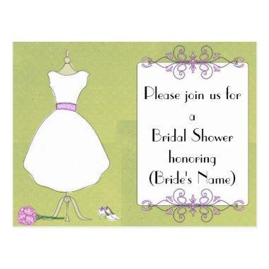 Custom  Invitation-Chic Dress Form Post