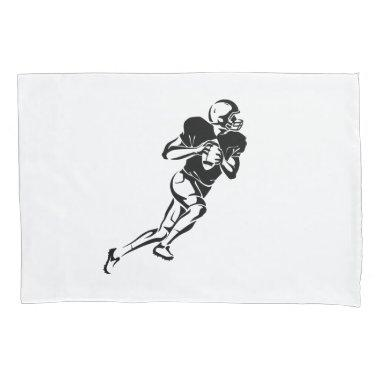 Custom Football Player Silhouette Pillow Case