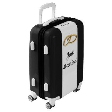 Custom Just Married Luggage Honeymoon Bag Locks