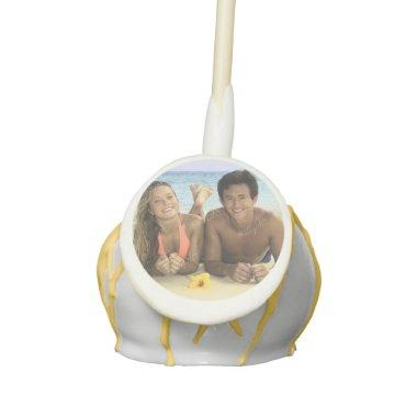 Custom Photo Template Cake Pop Wedding Favors