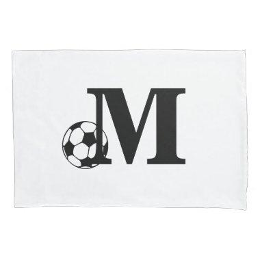 Custom Soccer Monogram Pillow Case