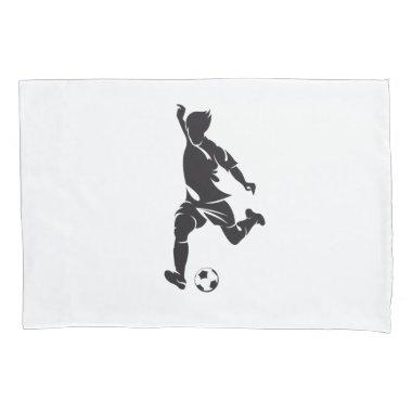 Custom Soccer Player Pillow Case