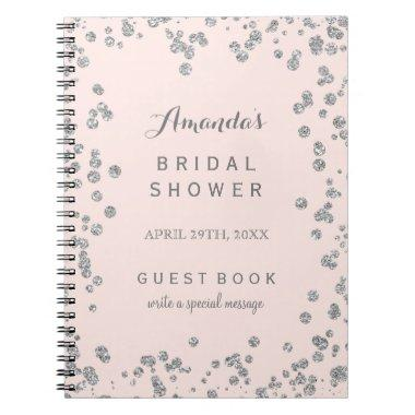 Customizable Blush Pink Bridal Shower Guest Book