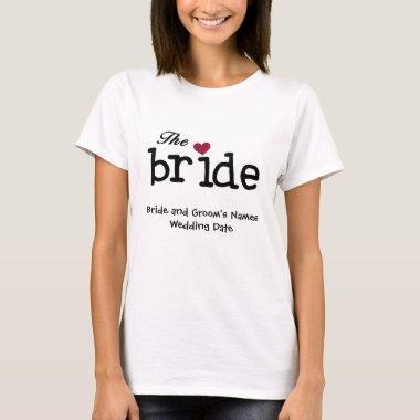 Customizable Bride T-shirt