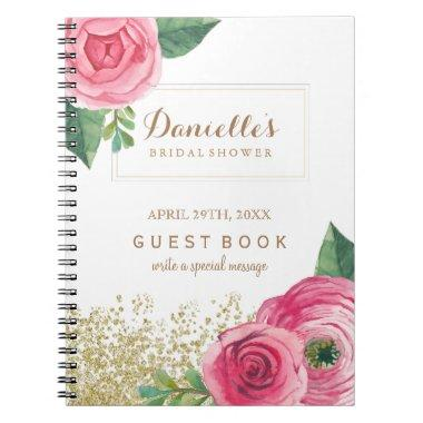 Customizable Pink Roses  Guest Book