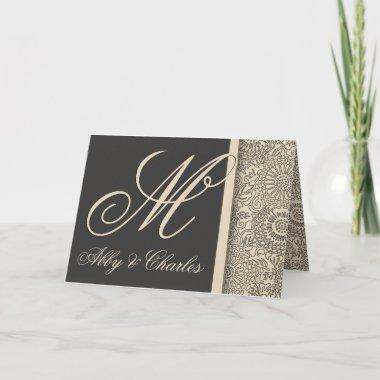 Customize your own monogram wedding note Invitations