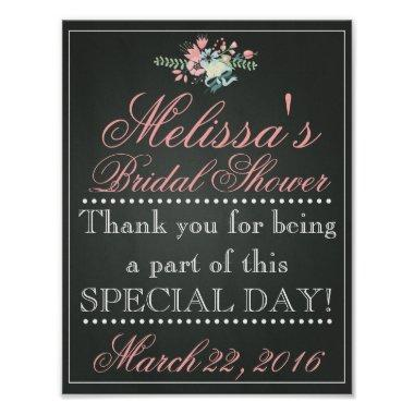 Customized Chalk  Sign, Bridal Poster