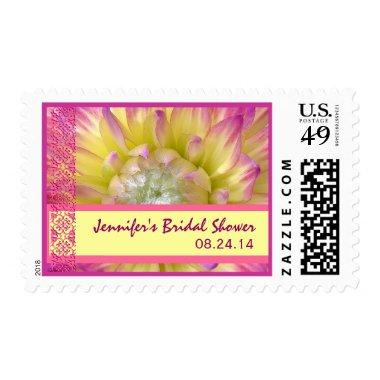 Customized Yellow & Pink Flower Bridal Shower Postage