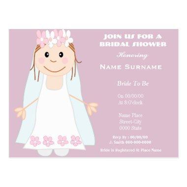 Cute and funny bridal shower invitation postInvitations