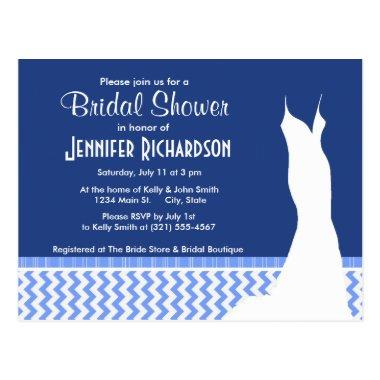 Cute Blue Chevron Pattern Post