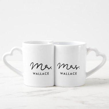 Cute custom Mr and Mrs Coffee Mug Set