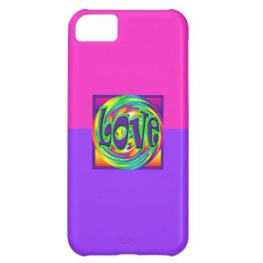 Cute Girly Bride Love Girl Retro Pink/Purple 60's Case For iPhone 5C