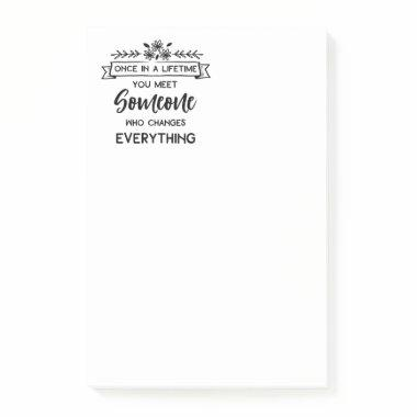 Cute Love Quote Wedding Bride, Bridal Shower Post-it Notes