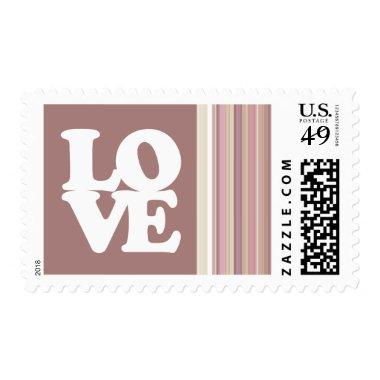 Cute Mauve, Brown Stripes Postage