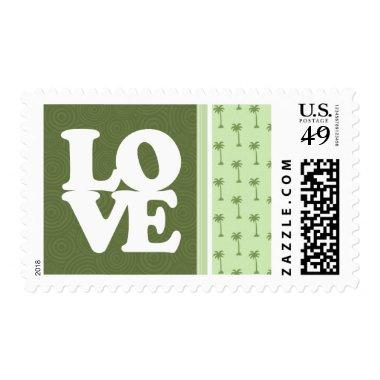 Cute Palm Tree Pattern Postage