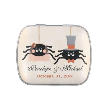 Cute Spider Halloween Wedding Favor Jelly Belly Tin