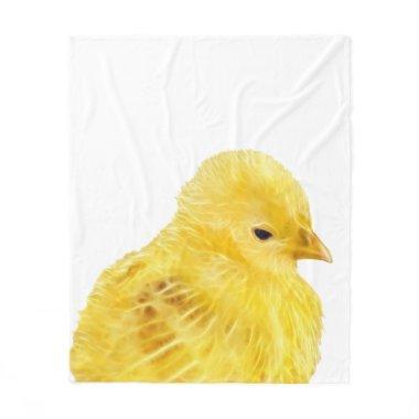 Cute yellow baby Chick Fleece Blanket