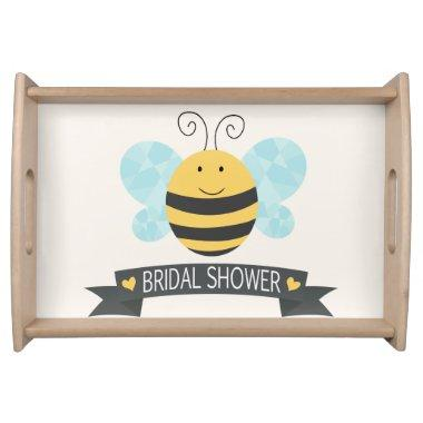 Cute Yellow & Black Bee  Serving Tray