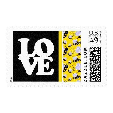 Cute Yellow & Black Bee Postage