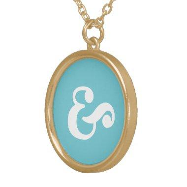 Dainty Ampersand Necklace for Bride