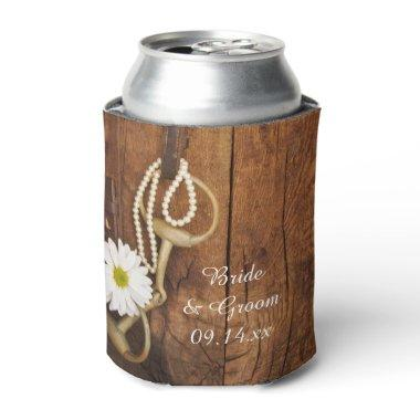 Daisy and Horse Bit Country Western Wedding Favor Can Cooler