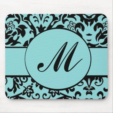 Damask Monogram Mouse Pad