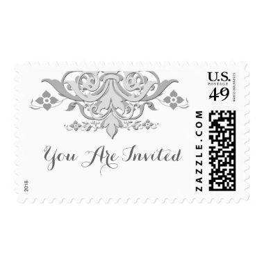 Damask personalized wedding postage damask1