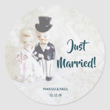 Dapper Dolls Just Married Sticker