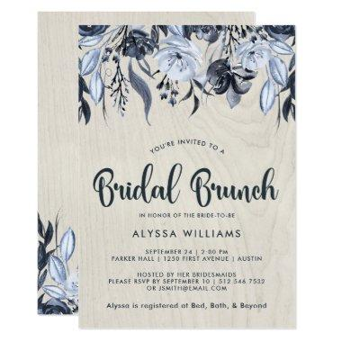 Dark Floral and White Wood | Bridal Brunch