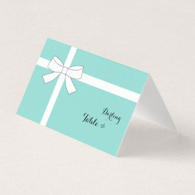 Darling Bridal Shower Tiffany Inspired Blue Party Place Invitations