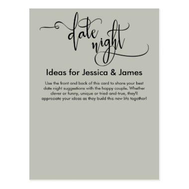 Date Night Ideas Elegant Sage Green Advice Card