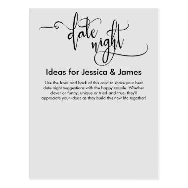 Date Night Ideas Light Gray Advice Card