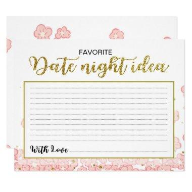 Date Night Ideas | Pink and Gold Glitter Floral