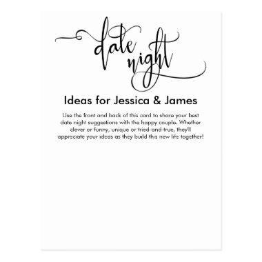 Date Night Ideas & Suggestions Advice Card