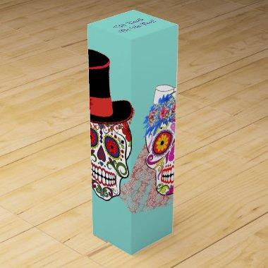 Day Of The Dead Bride And Groom Party Wine Box