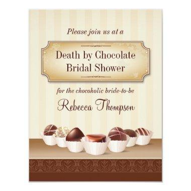 Death by Chocolate Bridal Shower Invitations