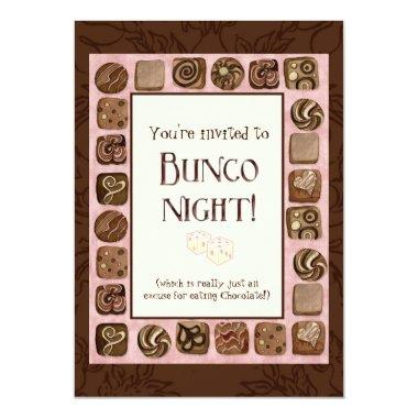 Death by Chocolate Bunco Party Invitations