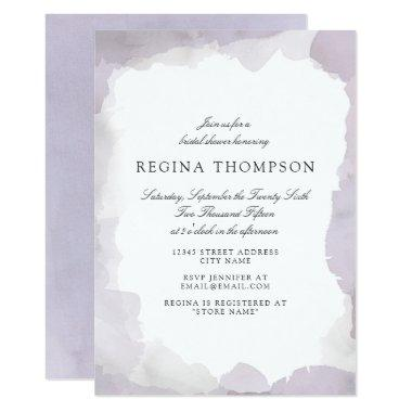 Debonair Lavender Bridal Shower Invitations