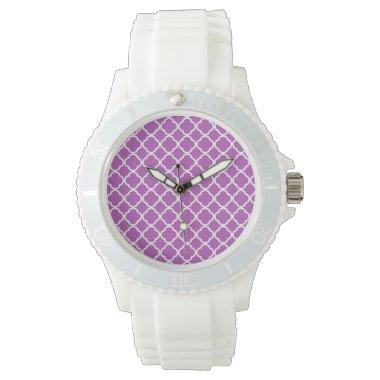 Deep Mauve Quatrefoil Watch