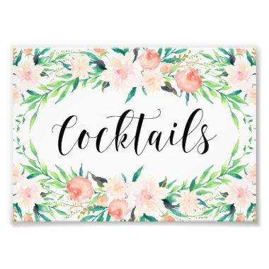 Delicate Bouquet Cocktails Print
