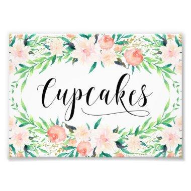 Delicate Bouquet Cupcakes Print