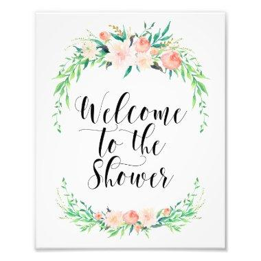 Delicate Bouquet Welcome to the Shower Print