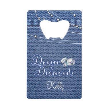 Denim and Diamonds, Country Credit  Bottle Opener