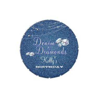 Denim and Diamonds Party Candy Tin