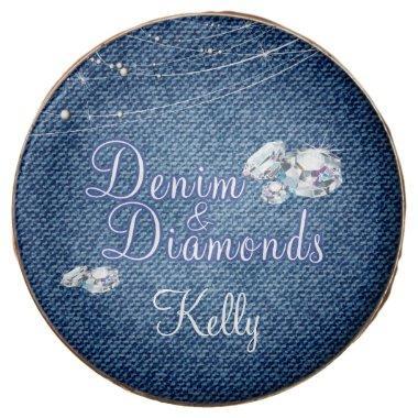 Denim and Diamonds Party Chocolate Dipped Oreo