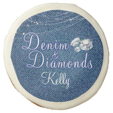 Denim and Diamonds Party Sugar Cookie